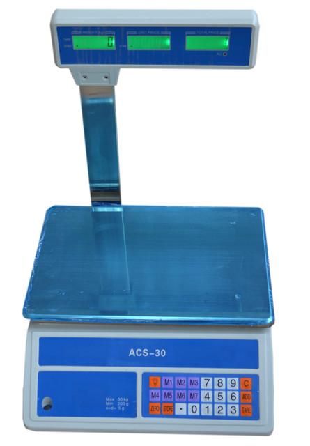 Весы торговые ACS-30-718 D