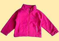Флисовая розовая детская кофта