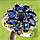 Серебряное кольцо  синий сапфир в виде цветка , фото 3