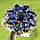 Серебряное кольцо  синий сапфир в виде цветка 17р 18р, фото 3