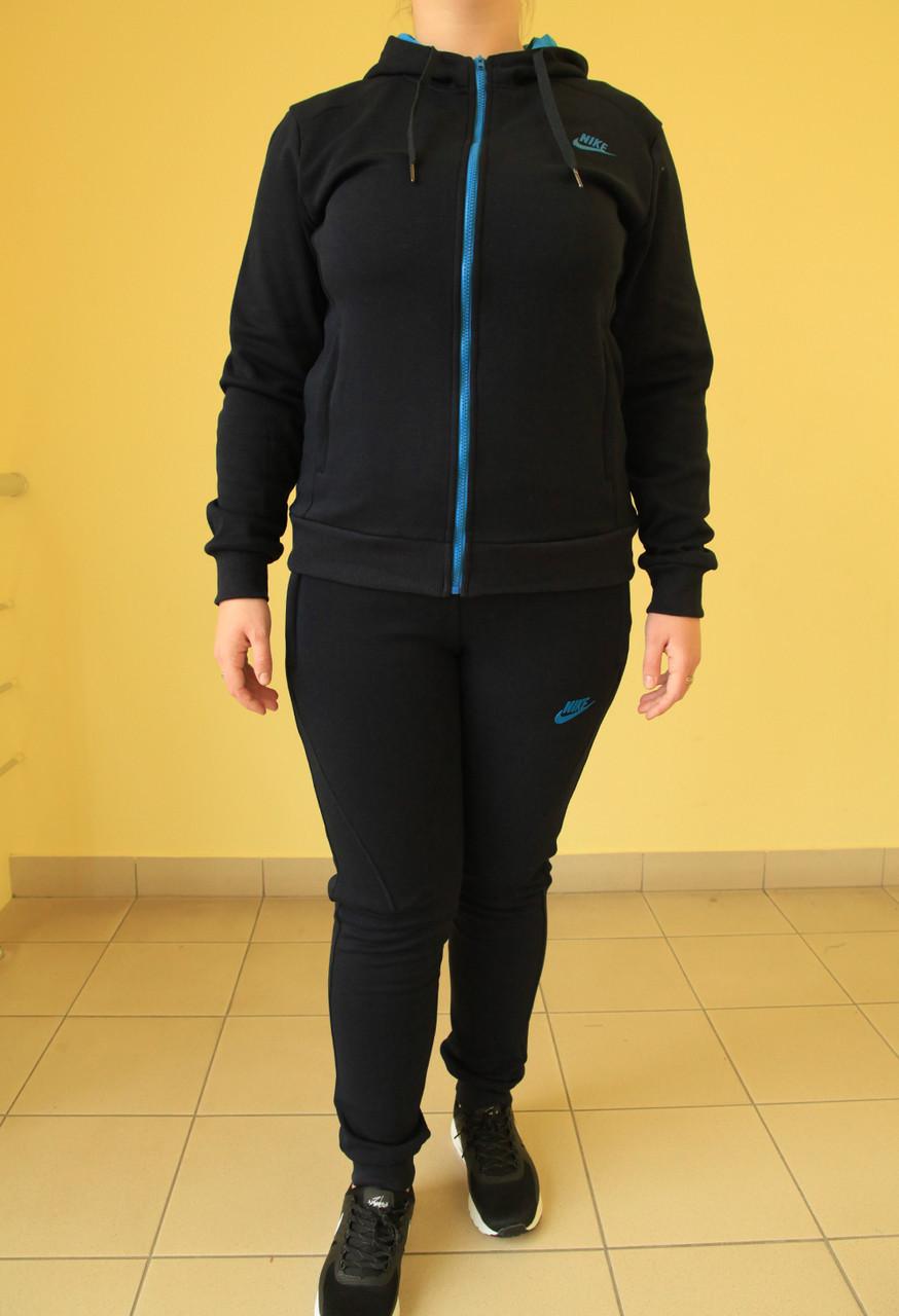 6f87fc96 Женский тёплый спортивный костюм Nike 77088 темно-синий код 2051А ...