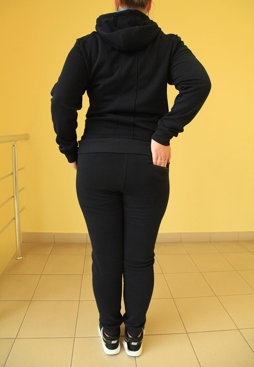d6fc19ac ... Женский тёплый спортивный костюм Nike 77088 темно-синий код 2051А, ...