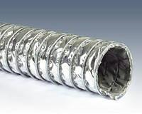 Высокотемпературный вентиляционный шланг типа КЛИН (стекловолокно + металлическая сетка)