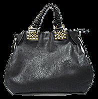 Стильная женская сумка из искусственной кожи черного цвета TRL-149732
