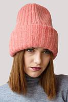 Молодежная шапка с широким отворотом