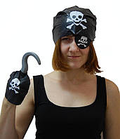 Пиратский набор (повязка, бандана, крюк, шрамы)