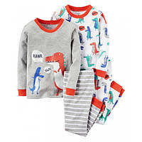 Комплект детских пижам для мальчика Carters Динозавры, Размер 8, Размер 8