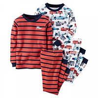 Комплект детских пижам для мальчика Carters Пожарные машинки, Размер 12, Размер 12