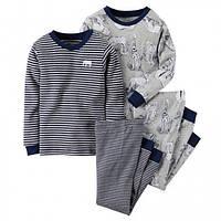 Комплект детских пижам для мальчика Carters Африка, Размер 12, Размер 12