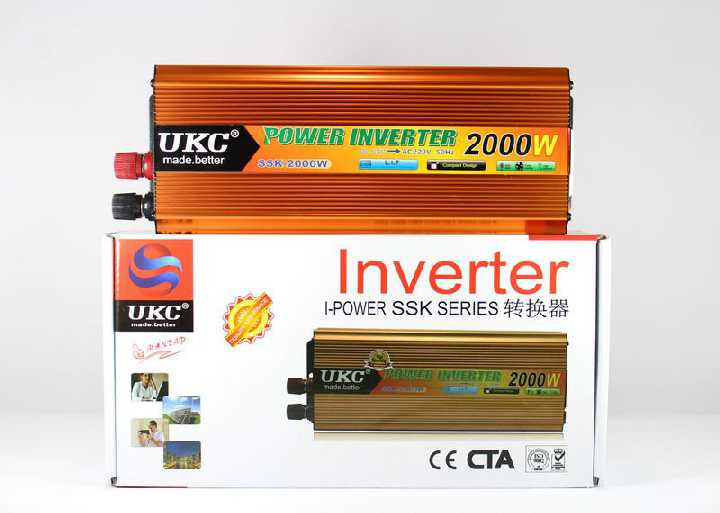 Преобразователь инвертор 24V-220V UKC 2000W с USB