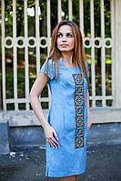 Жіноче плаття з вишивкою Орнамент на джинсі