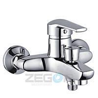 Смеситель для ванны Zegor короткий гусак, Z33-SWZ-А182 (SIT182)