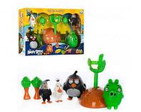 Игра с рогаткой катапультой Angry Birds Злые птички, свет, звук, 4 фигурки