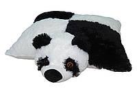 Подушка - игрушка Мишка Панда 45см, с шахматкой ПС10-9 (плюшевый мишка)