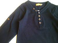 Батник черный детский, с длинным рукавом
