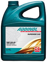 Масло моторное Addinol 0W-40 Superior 040 4л