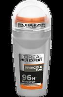 L'Oreal Men Expert Кульковий дезодорант-антиперспірант Invisible Men 50мл.