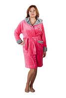 Модный женский махровый халат-короткий