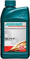 Масло трансмиссионное Addinol Getriebeol 75W-80 Multi Transmission Fluid 1л (GL-4)