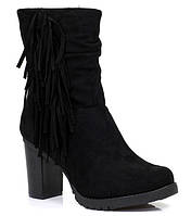 Высокие зимние ботинки на каблуке   размеры 40