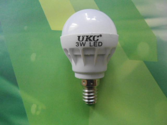 Лампочка LED LAMP E14 3W UKC Енергозберігаюча Кругла