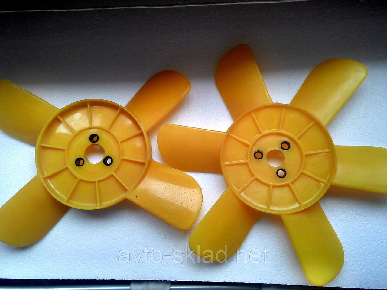 Вентилятор 2101, 2102, 2103, 2104, 2105, 2106, 2107, 2121 6, 4 лопастной Желтый