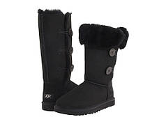 Угги UGG Bailey Button Triplet Black топ реплика