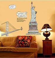 """Наклейка Виниловая 3D """"Статуя Свободы"""" 120*120см"""