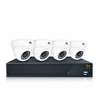 Комплект видеонаблюдения для помещения Partizan Indoor Kit 1MP 4xAHD, Киев, фото 1