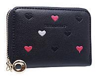 Супер компактный кошелк-визитниц с сердечками PC13 black