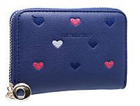 Супер компактный кошелк-визитниц с сердечками PC13 dark blue