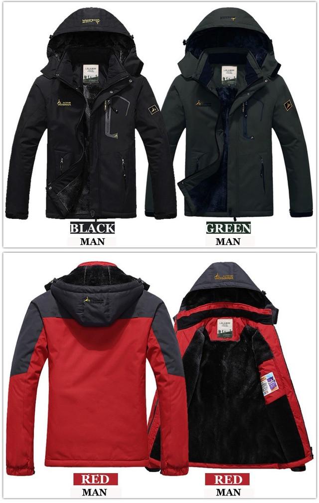 346f09a6b349 Парка Ветро-Влагозащитная зимняя мужская куртка большие размеры L ...