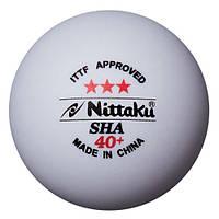 Пластиковые мячи для настольного тенниса Nittaku SHA 40+ 3 star (1 шт.)