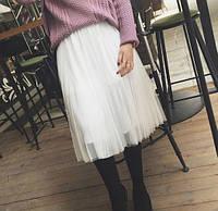 Женская стильная пышная юбка из фатина