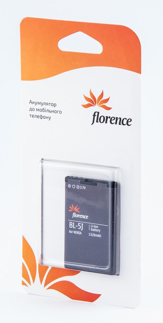 Батарея Florence для Nokia (BL-5J) 1320mA