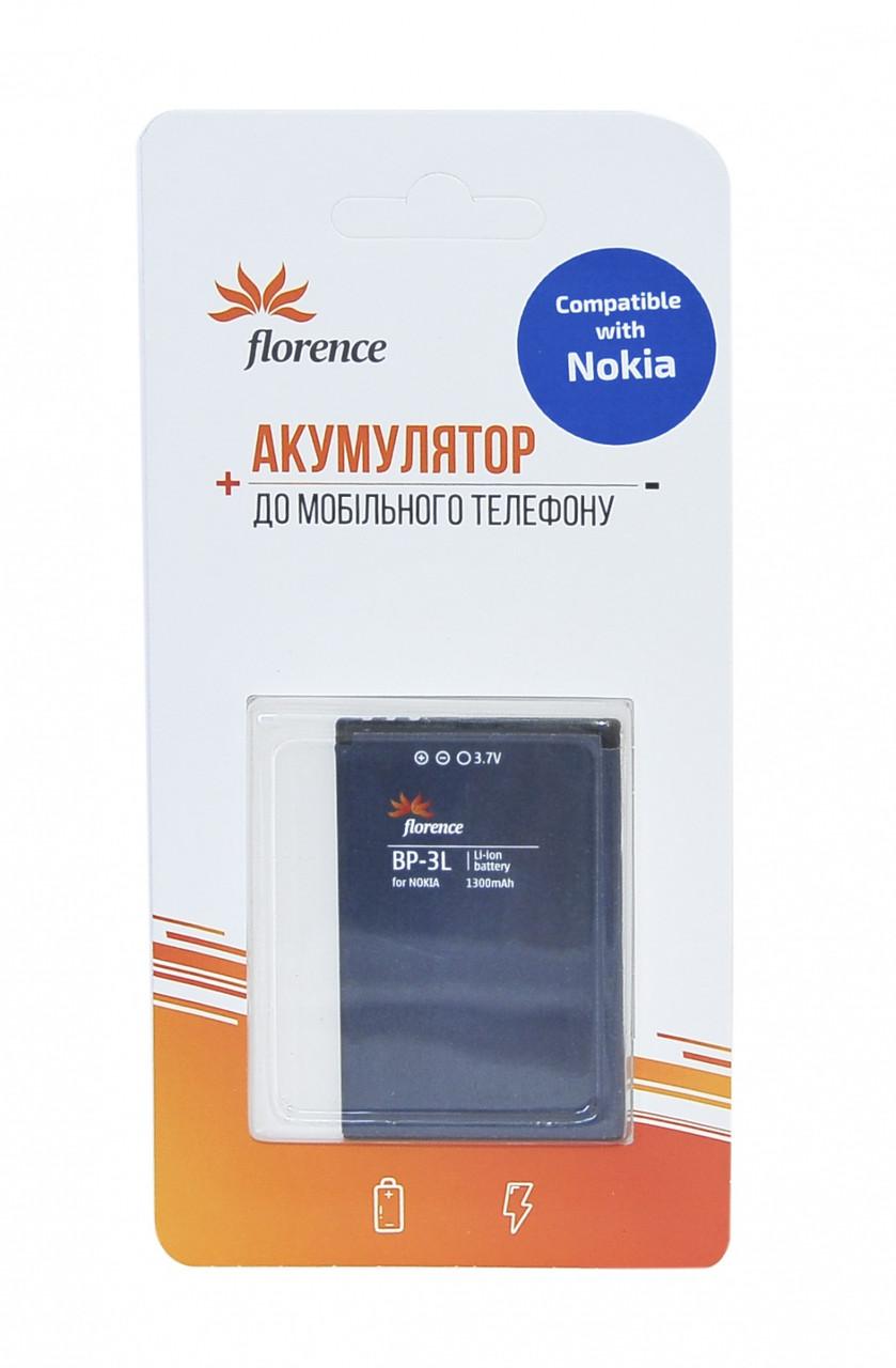Батарея Florence для Nokia (BP-3L) 1300mA