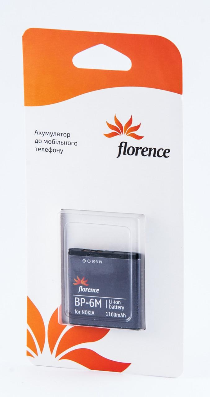 Батарея Florence для Nokia (BP-6M) 1100mA
