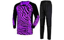 Форма футбольного воротаря CO-023-V фіолетово-чорна