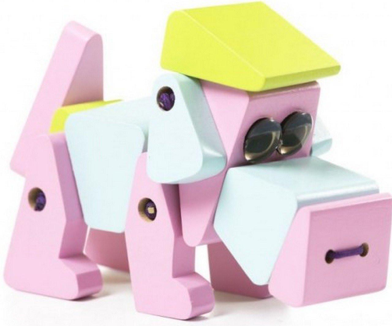 Деревянный конструктор «Собака акробат» LA-1 TM Cubika (11858)