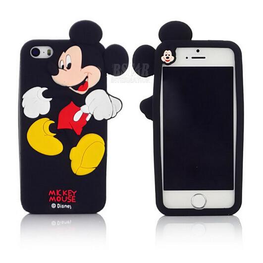 Чехол силиконовый Mickey Mouse для iPhone 5/5s Black