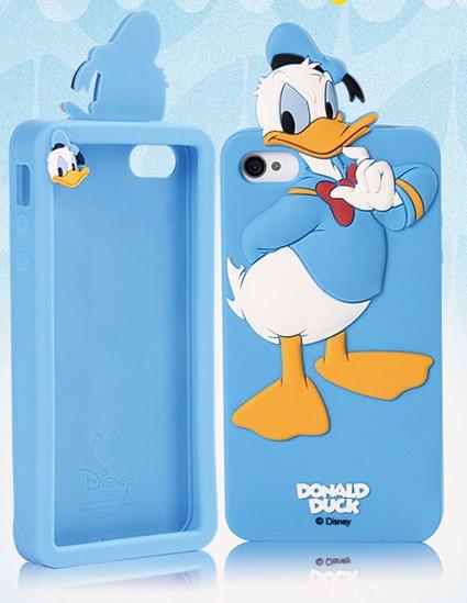 Чехол силиконовый Donald Duck для iPhone 5/5s Blue