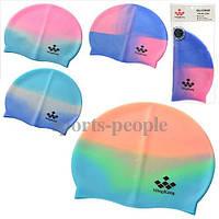 Шапочка для плавания MS Ming Kang, детская, силикон, разн. цвета