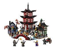 Конструктор Lepin Ninja Ниндзя Храм Аэроджитцу: 2150 деталей, 12 фигурок
