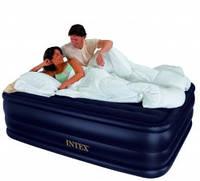 Велюровая двухспальная надувная кровать 66718 Intex