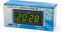 Настольные LED часы VST CX 730-2 , электронные , календарь, термометр, будильник