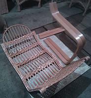 Кресло качалка разборная из бука и лозы