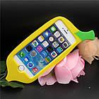 3D Cute Banana Soft Silicon Case для iPhone 5/5S, фото 2