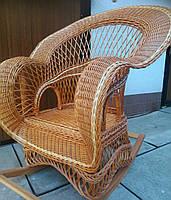 Крісло-гойдалка з натуральної лози