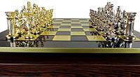 Шахматы Manopoulos Греко-Римская война в деревянном футляре 44х44 см Синие