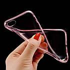 Diamond Crystal Frame Clear Phone Back Cover Soft TPU для iPhone 7 Pink, фото 3